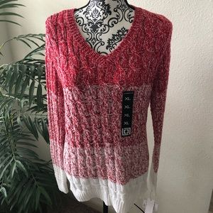 Liz Claiborne Ombré Red Sweater